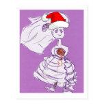 Novia del navidad postal