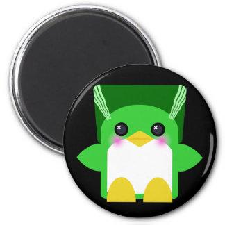 Novia del pingüino de Kawaii de Frankenstein Imán Redondo 5 Cm