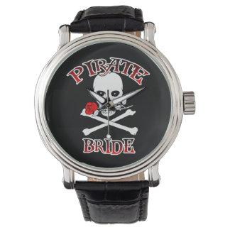 Novia del pirata relojes de pulsera