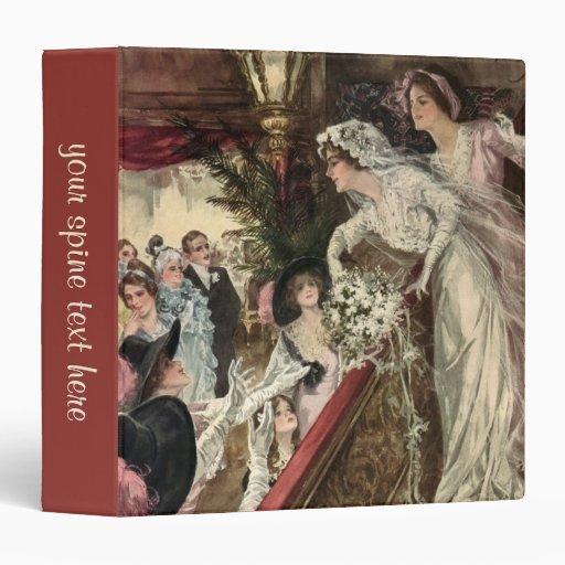 """Novia del recién casado del Victorian del vintage Carpeta 1 1/2"""""""