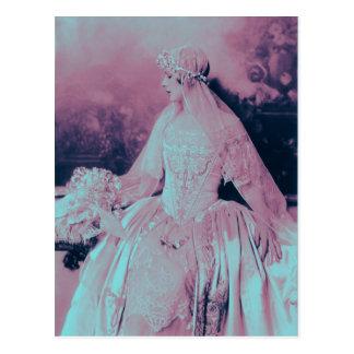 Novia del rosa y de los azules cielos del Victoria Postales