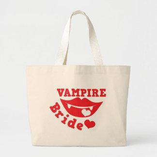 novia del vampiro bolsa tela grande