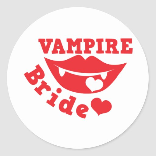 novia del vampiro pegatina redonda