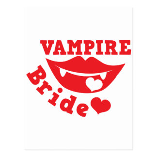 novia del vampiro postal