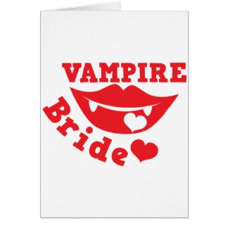 novia del vampiro felicitación