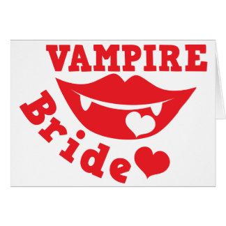 novia del vampiro tarjeta de felicitación