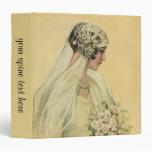 Novia del Victorian del vintage en retrato nupcial Carpeta 3,8 Cm