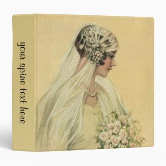 """Novia del Victorian del vintage en retrato nupcial Carpeta 1 1/2"""""""