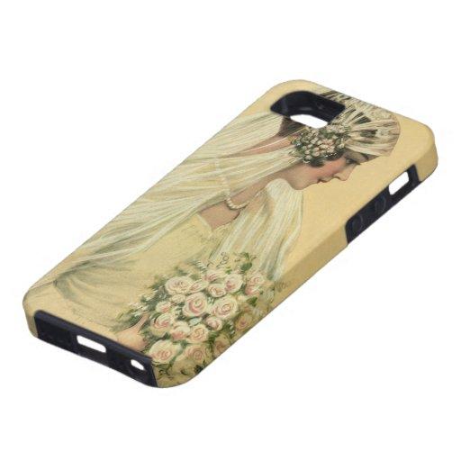 Novia del Victorian del vintage en retrato nupcial iPhone 5 Case-Mate Carcasas