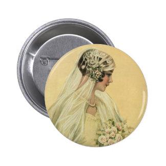 Novia del Victorian del vintage en retrato nupcial Pin