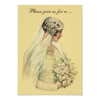 Novia del Victorian del vintage, invitación