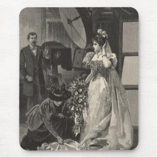 Novia del Victorian del vintage, retrato nupcial Alfombrilla De Raton