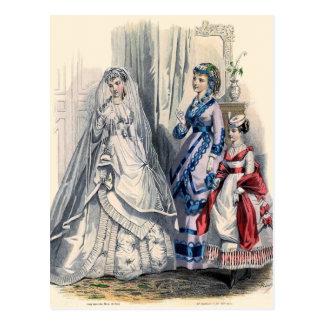 """""""Novia del Victorian y criadas del honor """" Postal"""