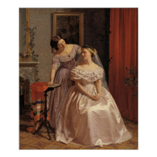 Novia del vintage, dama de honor, criada del arte  impresiones