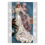 Novia del vintage tarjeta de felicitación