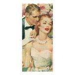 Novia del vintage y recienes casados y flores del  lonas publicitarias