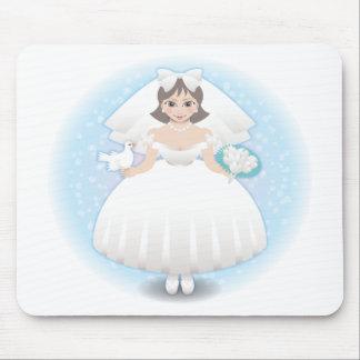 novia feliz mousepads