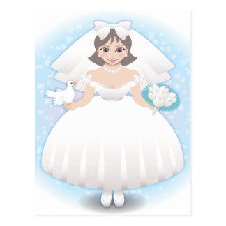 novia feliz postales