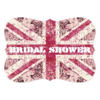 Novia femenina de Union Jack británicos del grunge Invitación