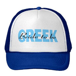Novia griega a ser gorra