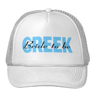 Novia griega a ser gorro