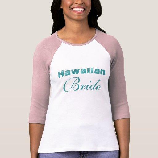 Novia hawaiana elegante playera