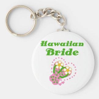 Novia hawaiana llavero redondo tipo pin