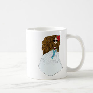 Novia hermosa tazas de café