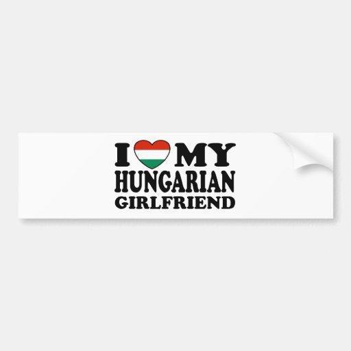 Novia húngara pegatina para auto