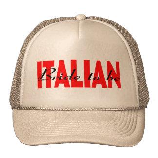 Novia italiana a ser gorro de camionero