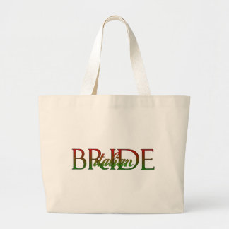 Novia italiana elegante bolsas lienzo