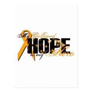 Novia mi héroe - esperanza de la leucemia postales