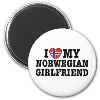 Novia noruega imanes para frigoríficos