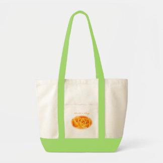 Novia o personalizar anaranjada del boda para bolsa tela impulso