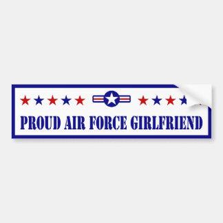 Novia orgullosa de la fuerza aérea pegatina para auto