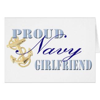 Novia orgullosa de la marina de guerra tarjeta de felicitación