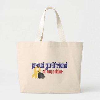 Novia orgullosa de mi soldado bolsas lienzo