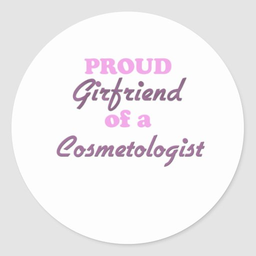 Novia orgullosa de un Cosmetologist Pegatina Redonda