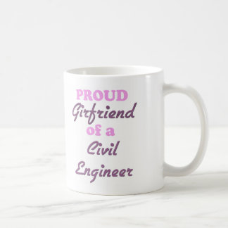 Novia orgullosa de un ingeniero civil taza