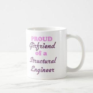 Novia orgullosa de un ingeniero estructural taza básica blanca