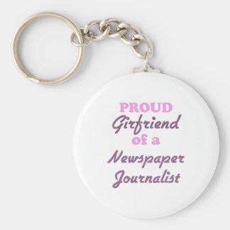 Novia orgullosa de un periodista del periódico llavero redondo tipo pin
