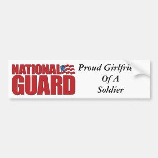 Novia orgullosa de un soldado pegatina de parachoque