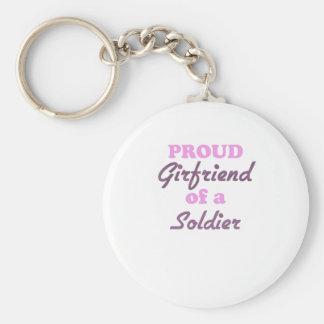 Novia orgullosa de un soldado llavero personalizado