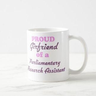 Novia orgullosa de una investigación parlamentaria tazas de café