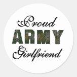 Novia orgullosa del ejército etiquetas redondas