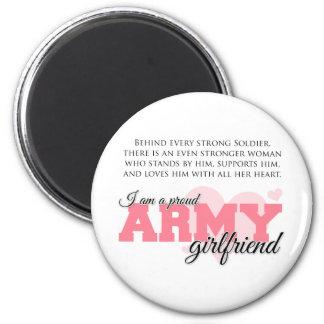 Novia orgullosa del ejército imán redondo 5 cm