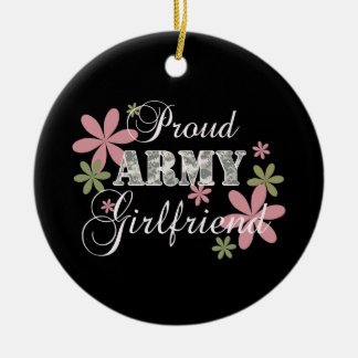 Novia orgullosa del ejército [la Florida c] Adorno Navideño Redondo De Cerámica