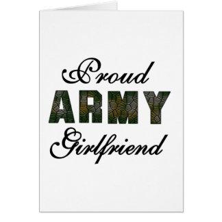 Novia orgullosa del ejército tarjeta de felicitación