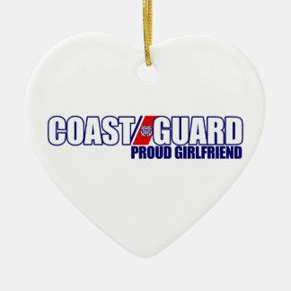 Novia orgullosa del guardacostas adorno de cerámica en forma de corazón