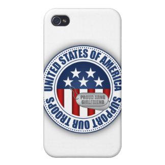 Novia orgullosa del Guardia Nacional del ejército iPhone 4 Carcasas